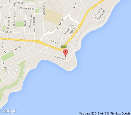 Map Le Paradis Penthouse in Hermanus  Overberg  Western Cape  South Africa