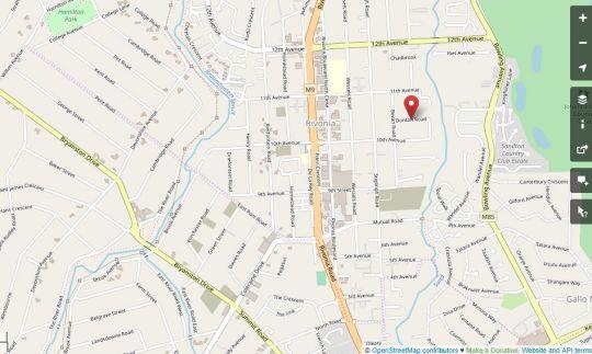 Map Dunton Guest House in Rivonia  Sandton  Johannesburg  Gauteng  South Africa