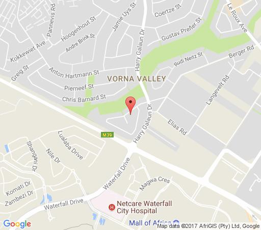 Map Vanilla Bean Cottage in Vorna Valley  Midrand  Johannesburg  Gauteng  South Africa