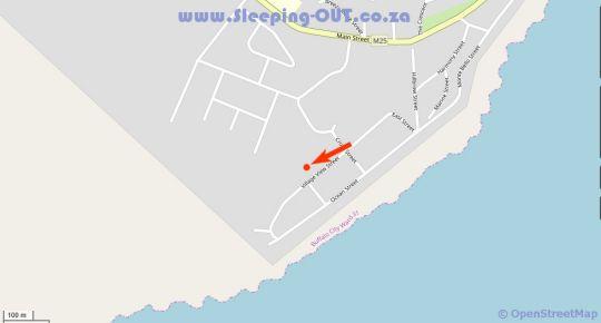 Map The Coelacanth Bed and Breakfast in Kidds Beach  Cacadu (Sarah Baartman)  Eastern Cape  South Africa
