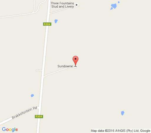 Map Sundowne Recreational Farm in Philadelphia  Swartland  Western Cape  South Africa