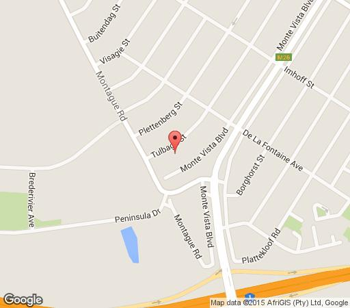 Map Chantie Luxury Self Catering House in Monte Vista  Northern Suburbs (CPT)  Cape Town  Western Cape  South Africa