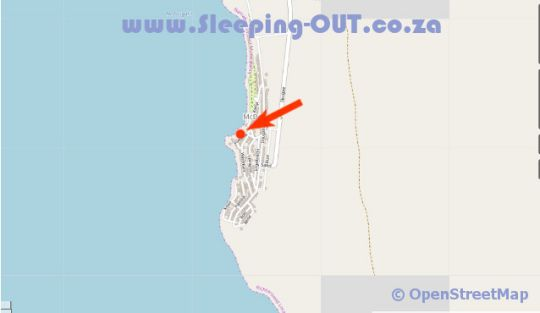 Map Voetbaai Chalets in Port Nolloth  Namakwaland  Northern Cape  South Africa