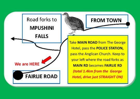 Map Mpushini Falls Resort Accommodation  in Eshowe  Zululand  KwaZulu Natal  South Africa