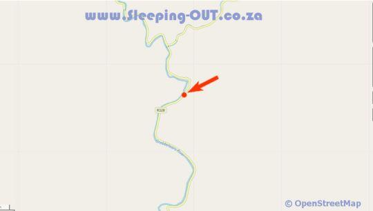 Map Cango Retreat in Oudtshoorn  Klein Karoo  Western Cape  South Africa