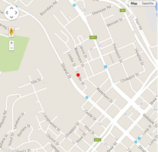 Map Cape Finest Guesthouse in Cape Town CBD  City Bowl  Cape Town  Western Cape  South Africa