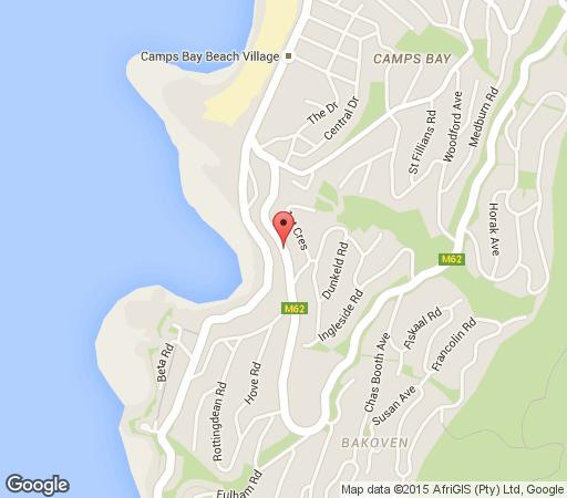 Map Caprice Camps Bay in Camps Bay  Atlantic Seaboard  Cape Town  Western Cape  South Africa
