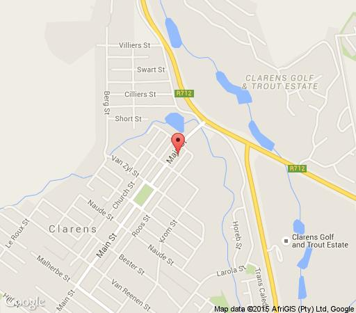 Map Clarens Retreat in Clarens  Thabo Mofutsanyana  Free State  South Africa