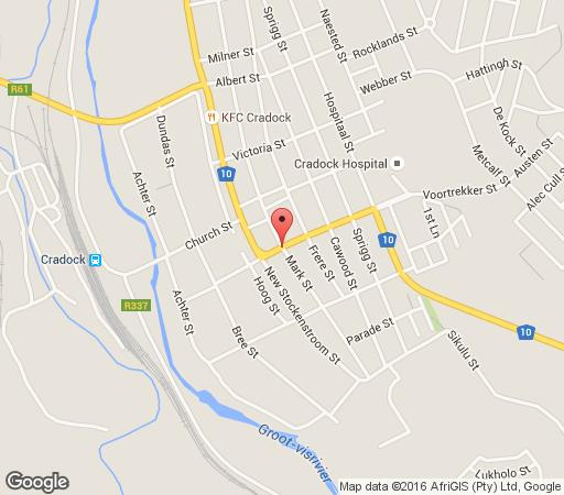 Map Die Tuishuise and Victoria Manor in Cradock  Stormberg District  Eastern Cape  South Africa