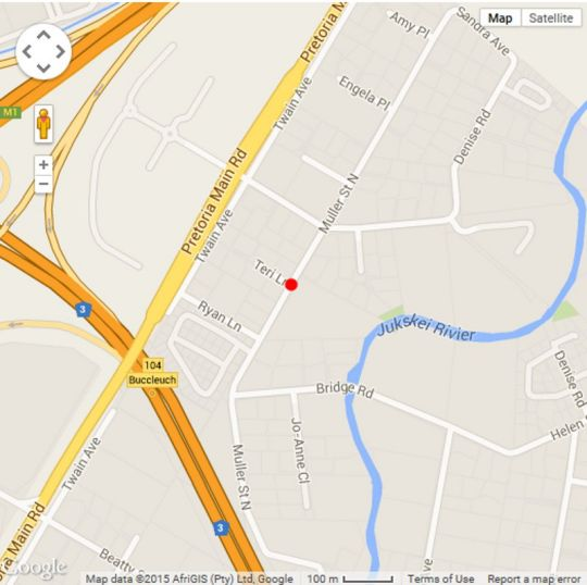 Map Emzini Apartments in Buccleuch  Sandton  Johannesburg  Gauteng  South Africa