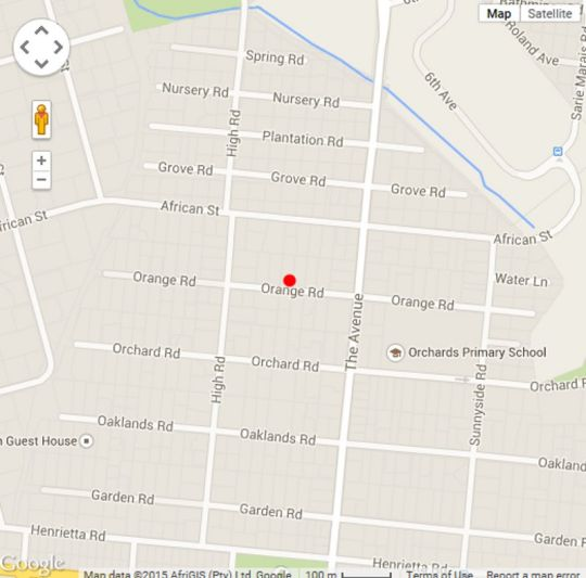 Map  Fifteen on Orange in Orchards  Northcliff/Rosebank  Johannesburg  Gauteng  South Africa