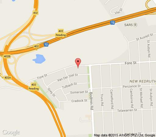 Map Greenfields Guest House in Alberante Extension  Alberton  Ekurhuleni (East Rand)  Gauteng  South Africa