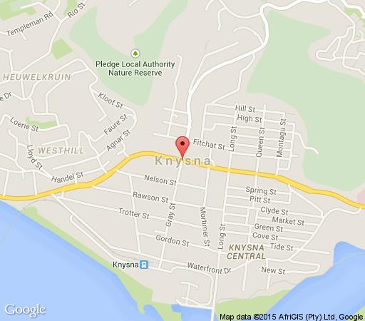Map Knysna Luxury Homes in Knysna  Garden Route  Western Cape  South Africa