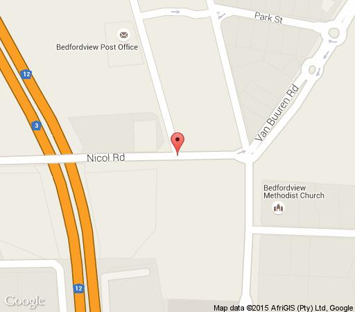 Map  Nicol Hotel and Apartments in Bedfordview  Ekurhuleni (East Rand)  Gauteng  South Africa