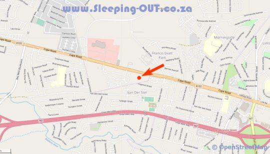 Map Hunter\'s Retreat Hotel in Port Elizabeth Central  Port Elizabeth  Cacadu (Sarah Baartman)  Eastern Cape  South Africa