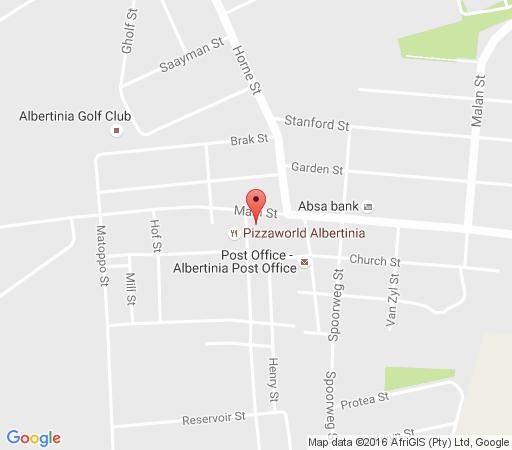 Map  Albertinia Hotel in Albertinia  Garden Route  Western Cape  South Africa
