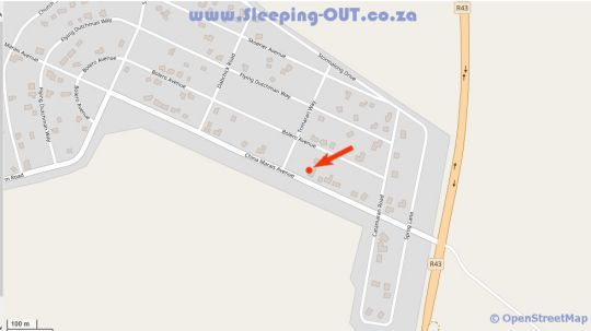 Map Fisherhaven Traveller\'s Lodge in Hermanus  Overberg  Western Cape  South Africa