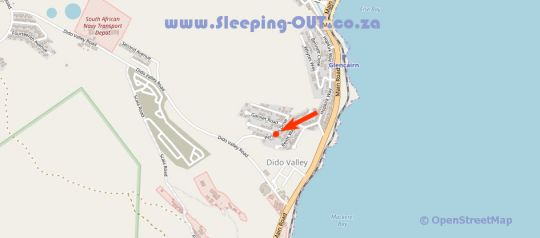 Map  Southern Right Accommodation in Simon's Town  False Bay  Cape Town  Western Cape  South Africa
