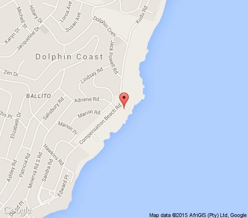 Map Sunshowers Ballito in Ballito  North Coast (KZN)  KwaZulu Natal  South Africa