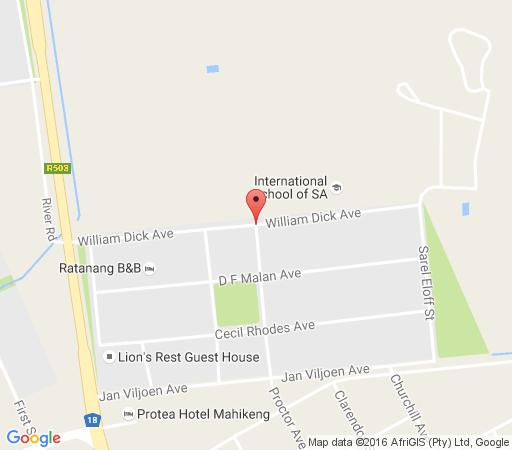 Map Thatch Haven B&B in Mafikeng  Central (NW)  North West  South Africa