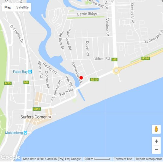 Map The Muize in Muizenberg  False Bay  Cape Town  Western Cape  South Africa