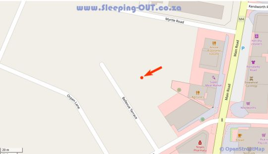 Map  The Terrace in Claremont  Southern Suburbs (CPT)  Cape Town  Western Cape  South Africa