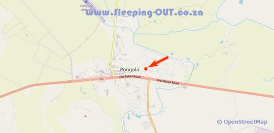 Map Kastelein in Pongola  Zululand  KwaZulu Natal  Suid-Afrika