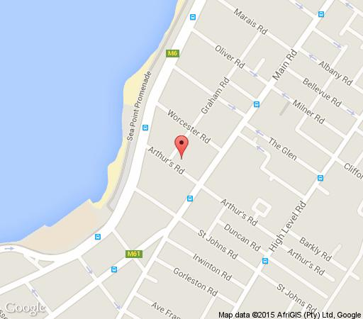 Map Cascades on the Promenade in Sea Point  Atlantic Seaboard  Cape Town  Western Cape  South Africa