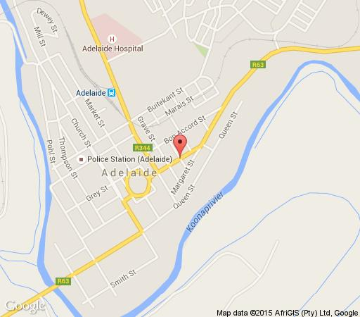 Map Tri-Angle B&B and Guesthouse in Adelaide  Amatole  Eastern Cape  South Africa