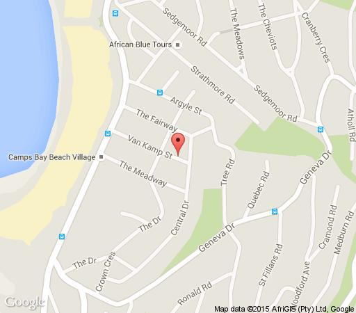 Map  Vetho Villa in Camps Bay  Atlantic Seaboard  Cape Town  Western Cape  South Africa