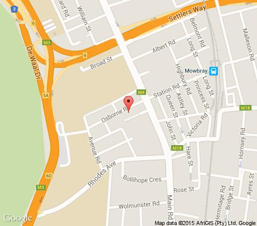 Map  Villa Garda Self-Catering in Mowbray  Southern Suburbs (CPT)  Cape Town  Western Cape  South Africa