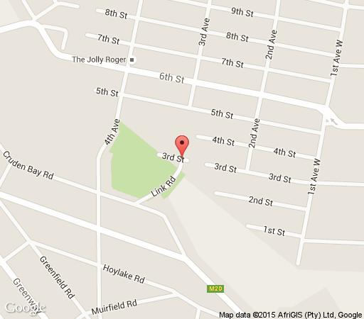 Map Bridgehouse in Parkhurst  Northcliff/Rosebank  Johannesburg  Gauteng  Afrique du Sud