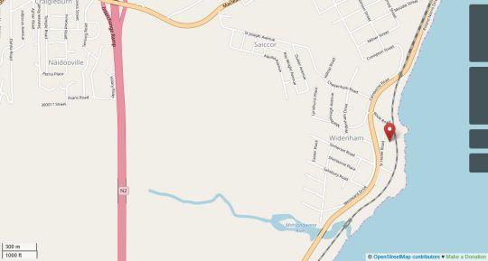 Map Le Paradis Lodge in Umkomaas  South Coast (KZN)  KwaZulu Natal  South Africa
