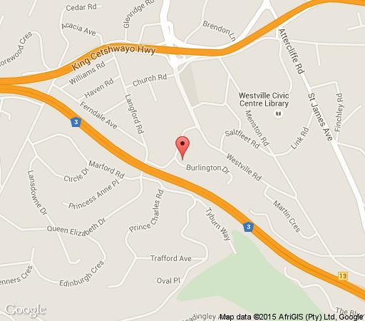 Map 18 Burlington B&B and Conference Venue in Westville  Western Suburbs (DBN)  Durban and Surrounds  KwaZulu Natal  South Africa