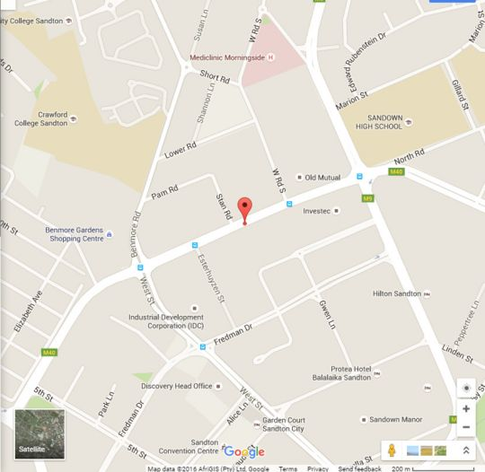 Map Sandton Executive Suites - Hydro Park in Sandton Central  Sandton  Johannesburg  Gauteng  South Africa