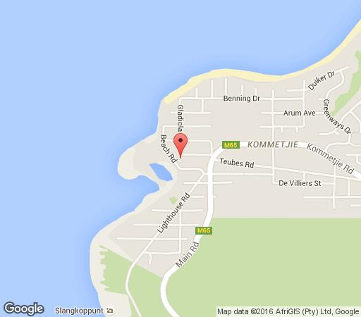 Map Four Seasons B&B (was Somerset Lodge) in Kommetjie  False Bay  Cape Town  Western Cape  South Africa