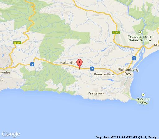 Map Lairds Lodge Country Estate in Plettenberg Bay  Garden Route  Western Cape  South Africa