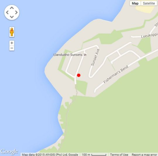 Map Gecko Rocks in Llandudno  Atlantic Seaboard  Cape Town  Western Cape  South Africa