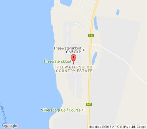 Map Theewaterskloof Holiday House in Villiersdorp  Overberg  Western Cape  South Africa