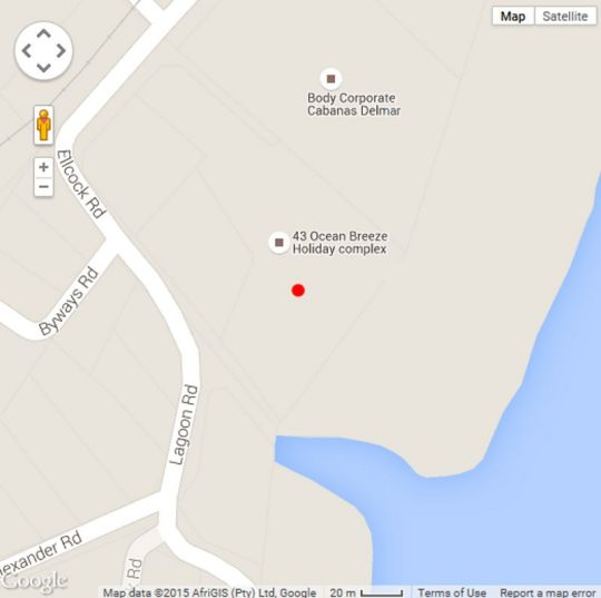 Map 38 Ocean Breeze in Warner Beach  South Coast (KZN)  KwaZulu Natal  South Africa