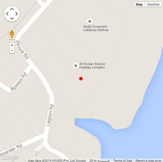 Map 38 Ocean Breeze in Warner Beach  South Coast (KZN)  KwaZulu Natal  South Africa
