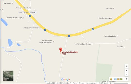 Map Victoria Heights B&B in George  Garden Route  Western Cape  South Africa