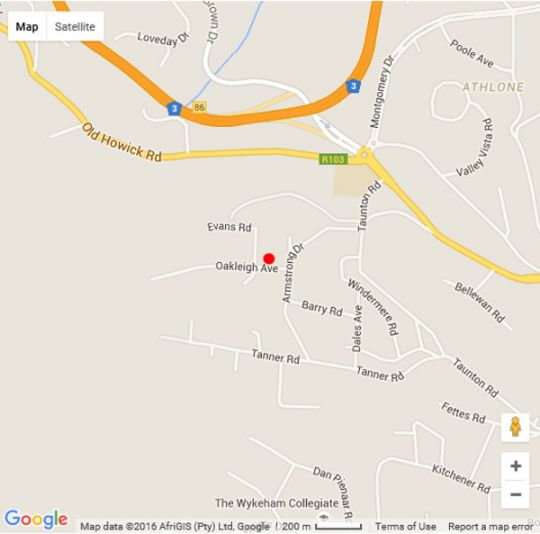 Map 7 On Oakleigh in Wembley  Pietermaritzburg  Midlands  KwaZulu Natal  South Africa