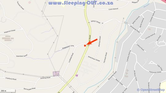Map At 98 on Lynburn Guest House in Lynnwood Manor  Pretoria East  Pretoria / Tshwane  Gauteng  South Africa