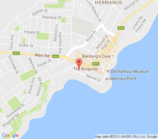 Map Windsor Self Catering Apartments in Hermanus  Overberg  Western Cape  South Africa