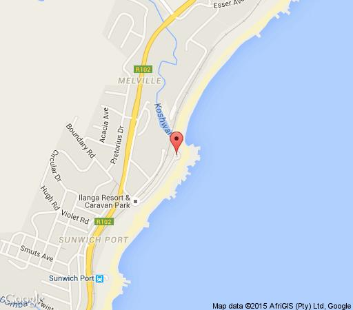 Map Banana Beach Holiday Resort & Conference Centre in Melville (KZN)  South Coast (KZN)  KwaZulu Natal  South Africa