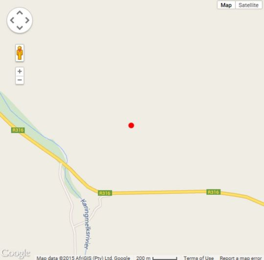 Map The Drift Farm in Napier  Overberg  Western Cape  South Africa
