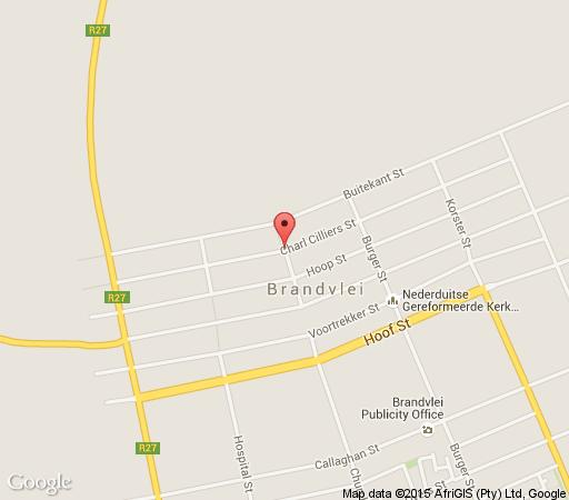Map Casablanca Overnight & Camping in Brandvlei (NC)  Hantam Karoo  Northern Cape  South Africa
