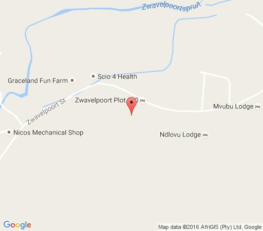 Map Zwavelpoort Guesthouse in Zwavelpoort  Pretoria East  Pretoria / Tshwane  Gauteng  South Africa