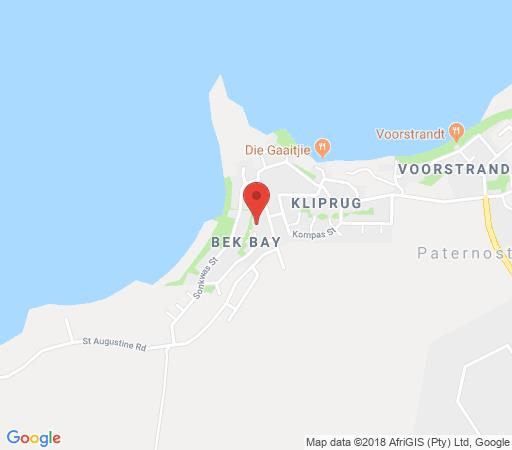 Map Gilcrest Place B&B in Paternoster  West Coast (WC)  Western Cape  South Africa